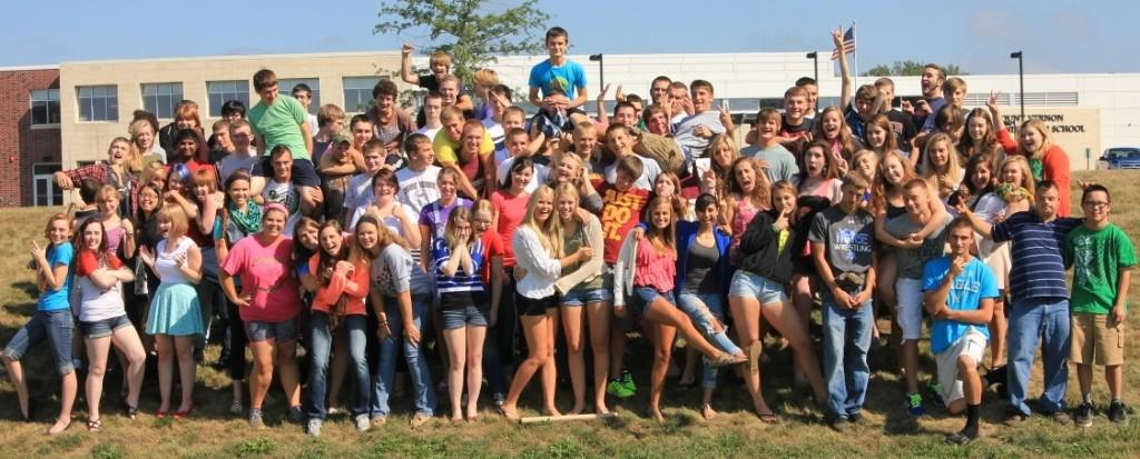 The Class of 2014 shows off their fun side.