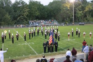 The Marching Band plays before the game.  Photo by Brittany Ferguson