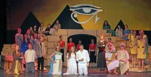 "The cast of ""Aida."" Photo by Gabby Kolker."