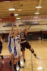 Junior Alli Platte plays in the district final game against Crestwood in Independence Feb. 22. Photo by Lexi Kelly