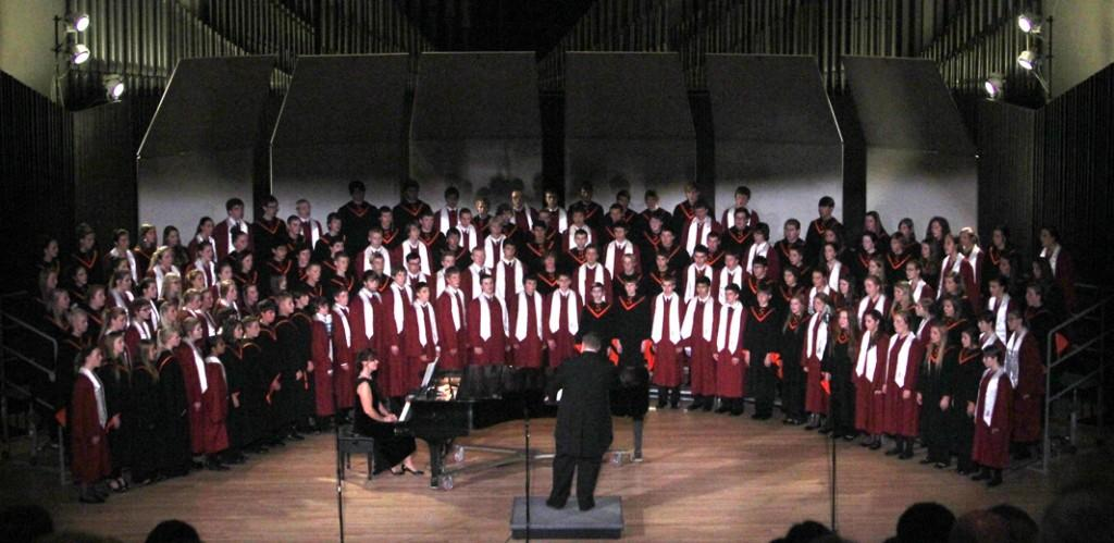 The Mount Vernon Choir performs with Solon and Cornell College Oct. 20, 2014.