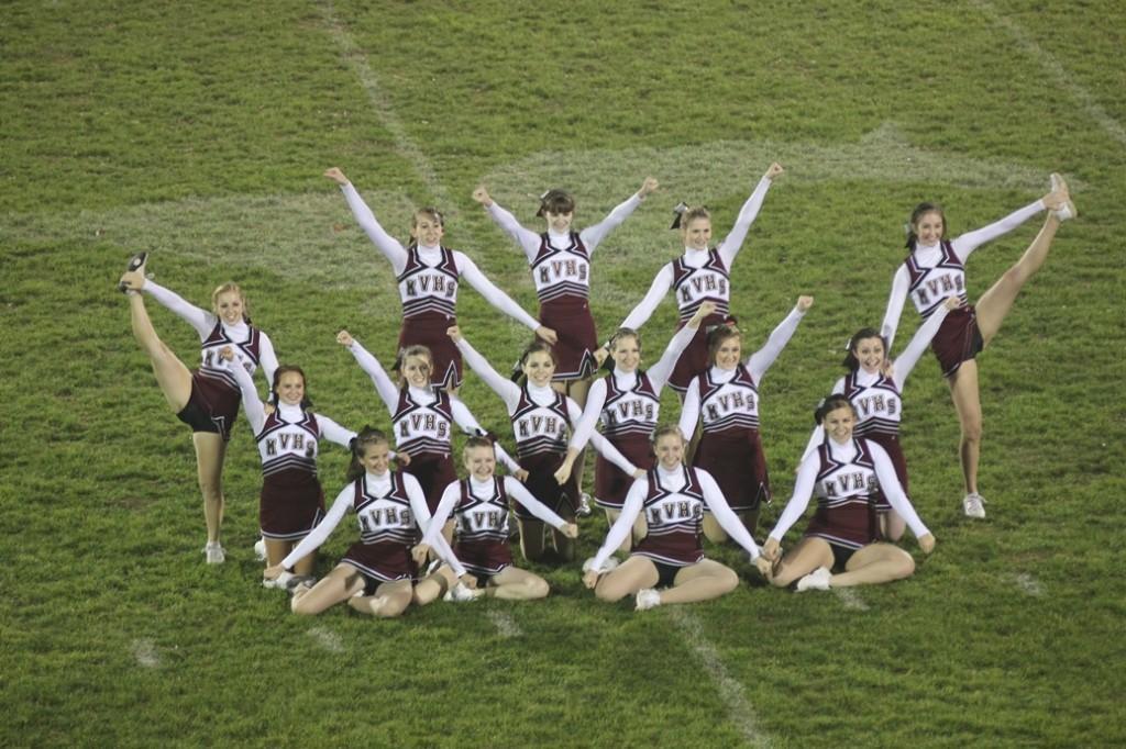 Football cheerleaders perform on Oct. 24.