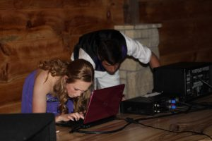 Students DJ at last year's prom with equipment purchased by the student council.
