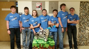 Team 3549, CRASHED!  Left to Right: Gunnar Hageman, Kaige Sneed, Kate Margheim, Brandon Fishbein, Jacob Stanerson, Noah Exeley-Schuman, and Cian Meier-Gast. Not shown: Cole Miller, David Wolfe, Jeremy Ferguson.
