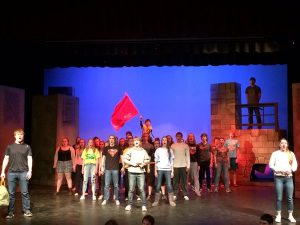 Students rehearse for the musical. Photo courtesy from Tom Stephens
