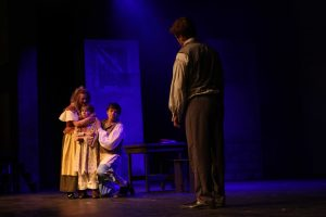 Jean Valjean finds the Thenardiers and Cosette and pays to take Cosette away, so he can raise her.