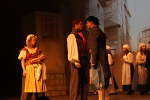 Ten years later, Jean Valjean runs into the Thenardiers and they are struggling to get a living. Thenardier accuses Valjean of taking their little girl away, though they never really cared for Cosette.