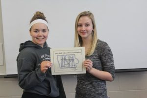 Maggie Rechkemmer and Bailey Priborsky placed 2nd in IHSPA Multimedia Sports Story. See it here: http://themustangmoon.com/?p=4836