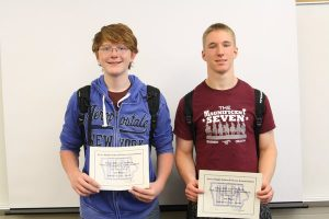 Ethan Hill, Sayre Pollock, Jackson Bootsmiller, and Luke Maddock placed 1st in IHSPA Multimedia Sports Story: http://themustangmoon.com/?p=4422
