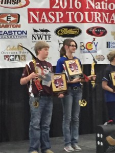 Logan Kelly  is the National NASP 3D and Bullseye Champ Middle School Boy and will represent the USA in South Africa All Star Worlds.