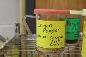 Shake a little lemon pepper on chicken, fish, and seafood.