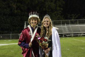 Aaron Barnhart and Wynne Vandersall were crowned homecoming king and queen. Photo by Jessie Brokel.