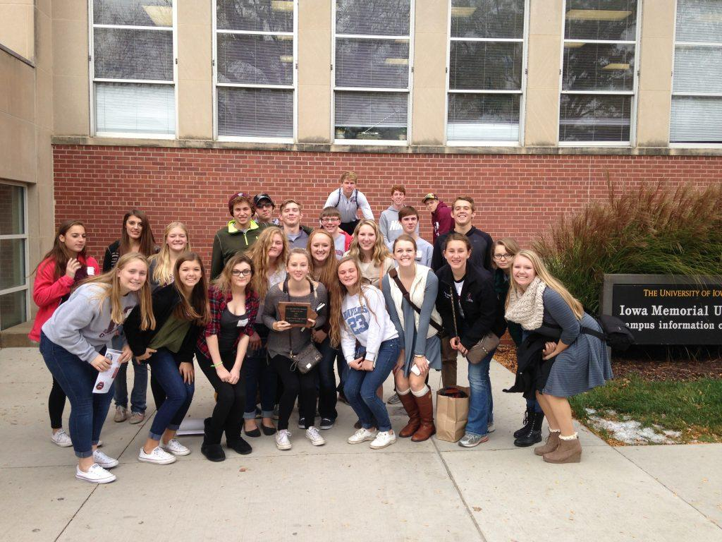 Twenty four journalism students attend the IHSPA Fall Conference in Iowa City Oct. 27.