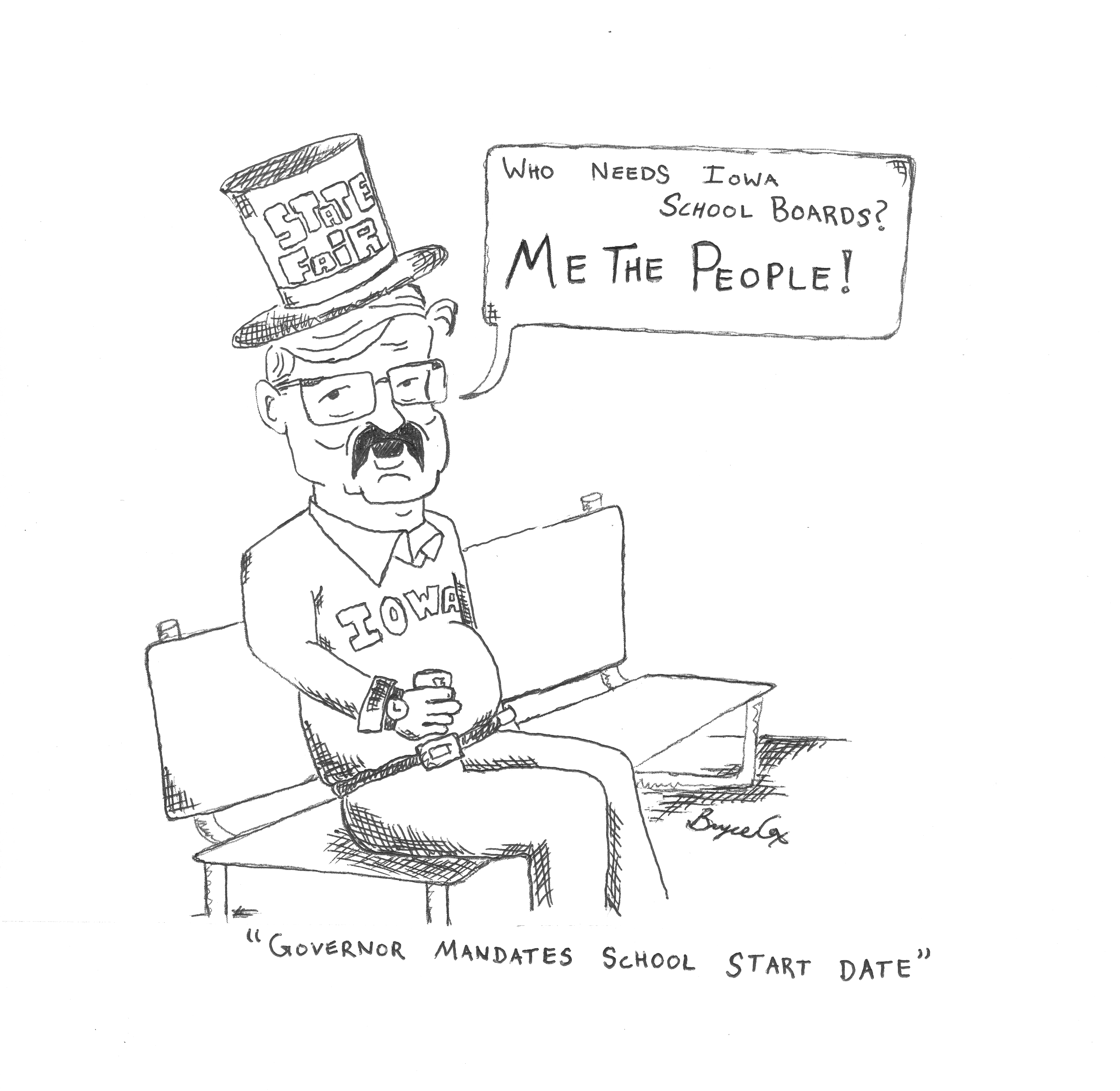 Political Cartoon By Bryce Cox