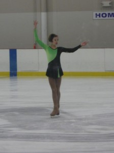 Even in her younger years of skating, Emily stands tall and proud for her audience.
