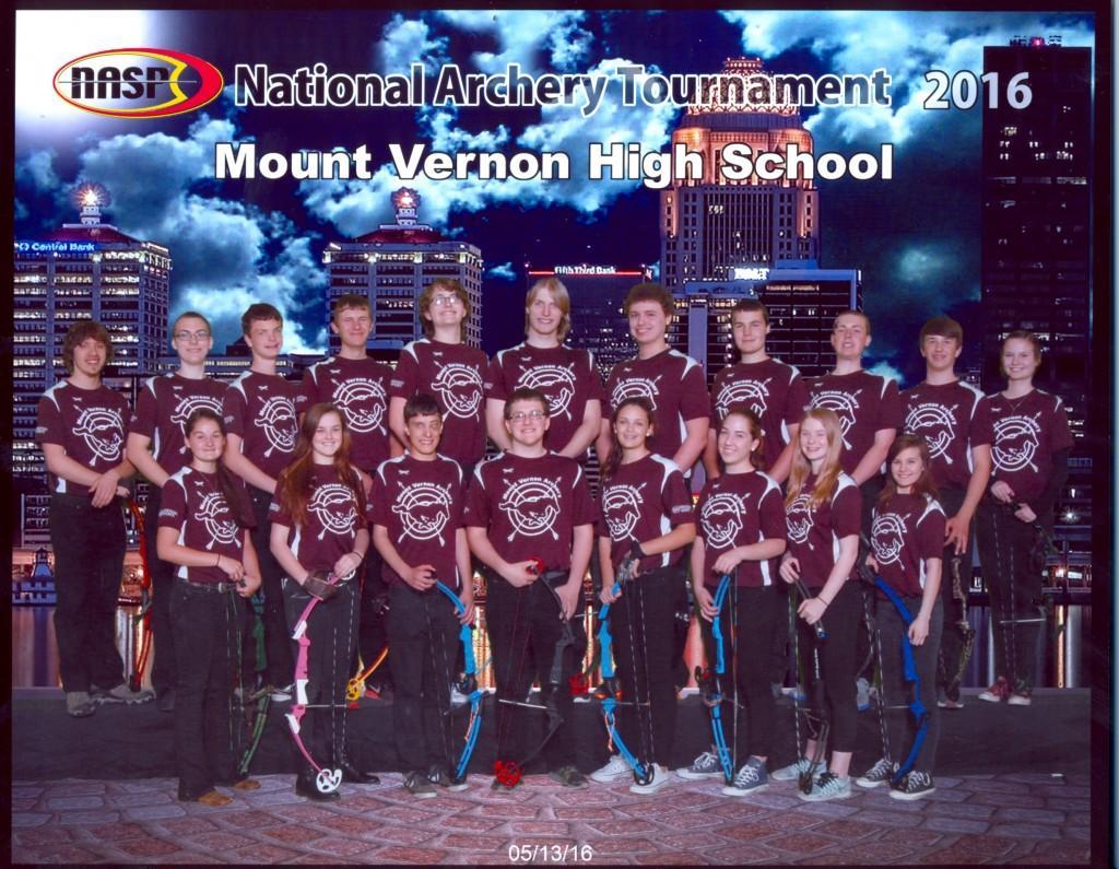 High School National Archery Team 2016