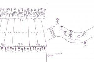 Cheer for Cross Country Cartoon by Clara Conroy