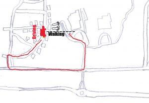 Walking is more efficient. Cartoon by Josh Jordan.