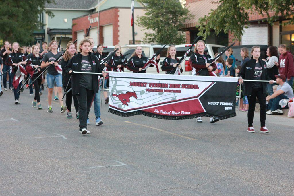 The marching band performs in the parade Sept. 30. Photo by Paige Zaruba.