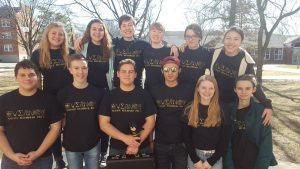 The Science Olympiad team waits for results at Truman State Feb. 18. The team won the competition. Photo by Alaina Appley.