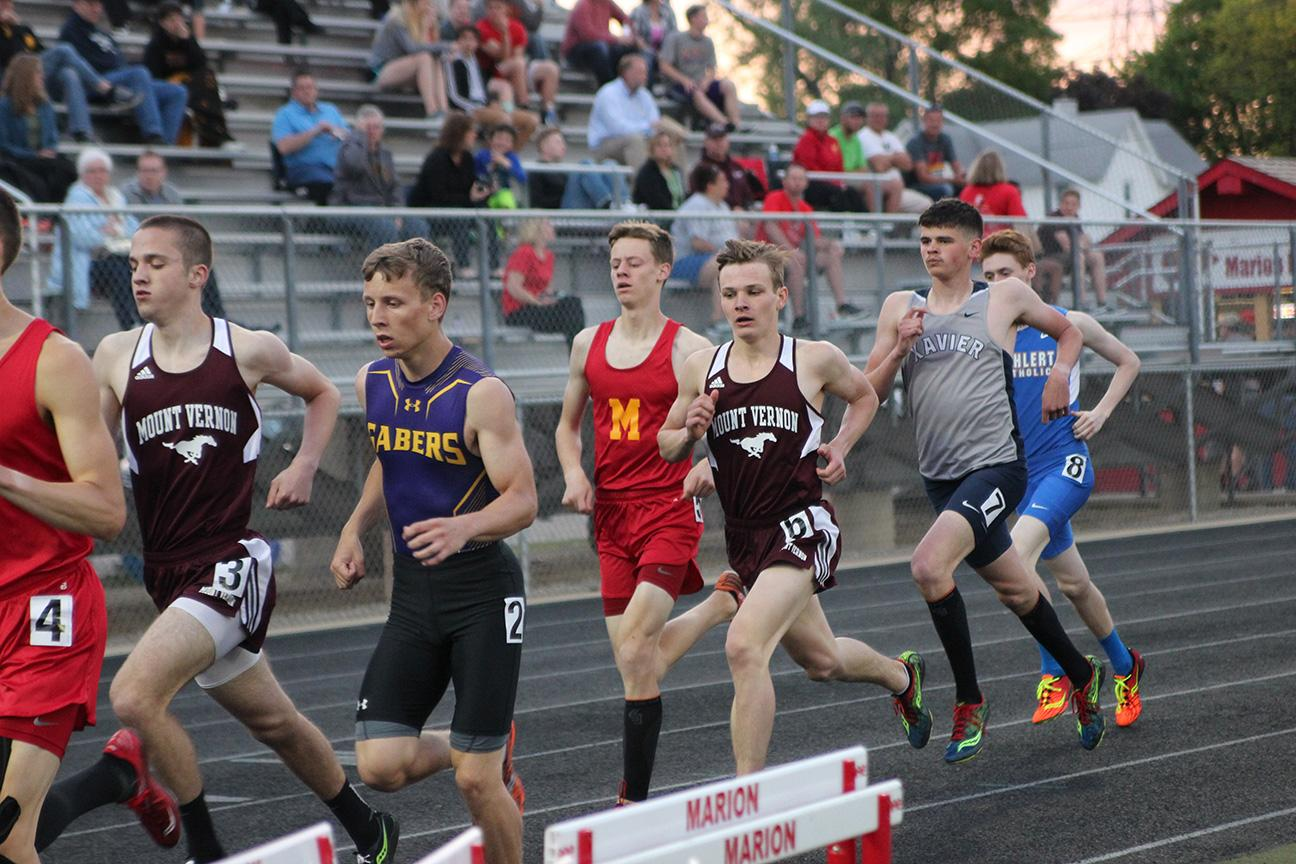 Mount Vernon Track Boys Place 3rd at Districts