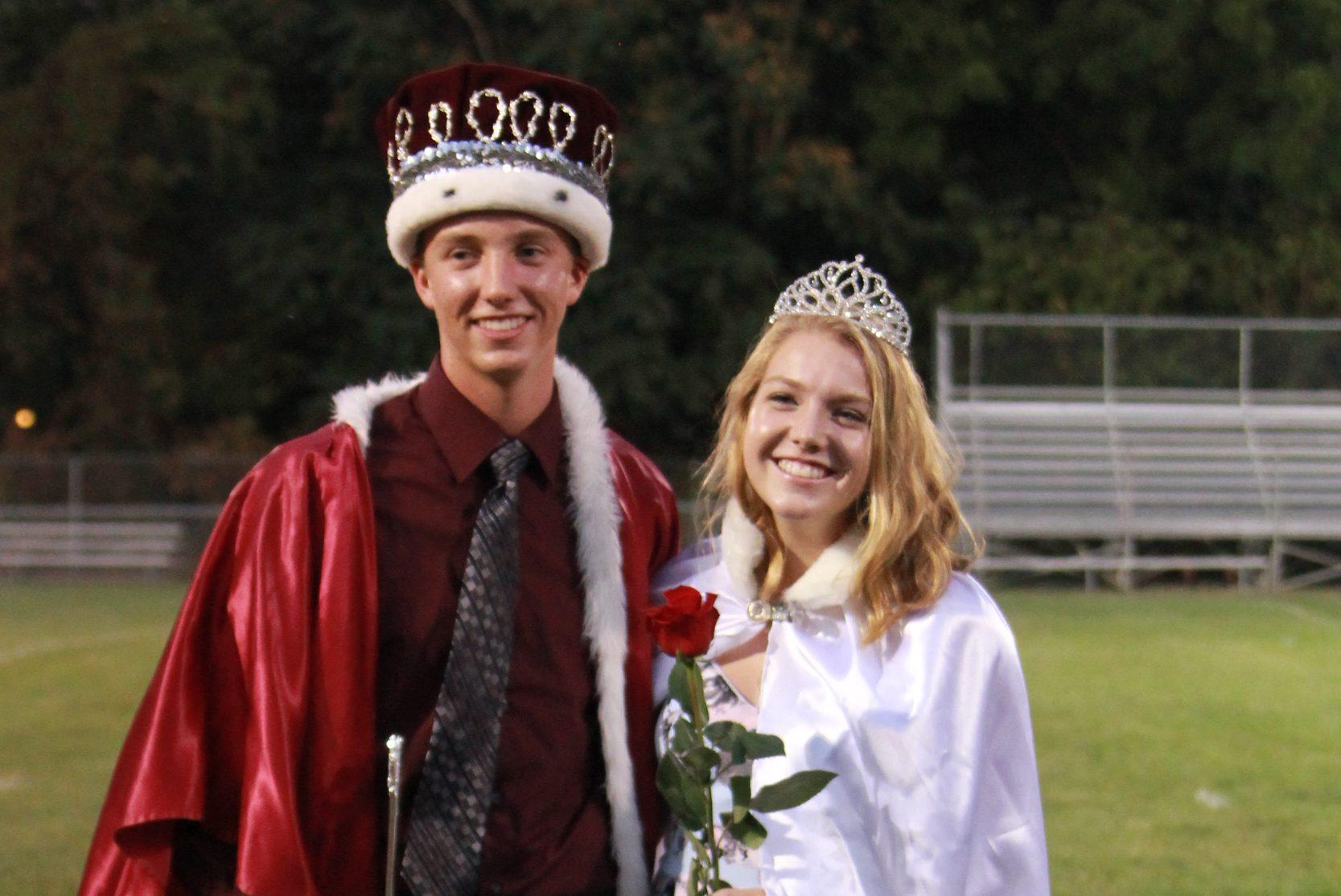 Homecoming King Clayton Loyd and Queen Grace Pettinger. Photo by Paige Zaruba