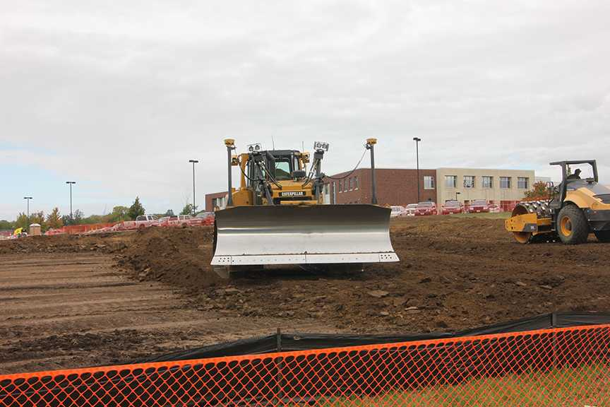 Construction for Tennis Courts Causes Parking Shortage