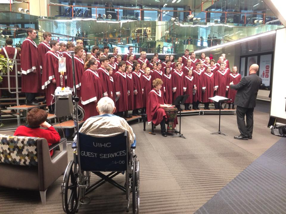 MVHS Choir Performs at Hospital