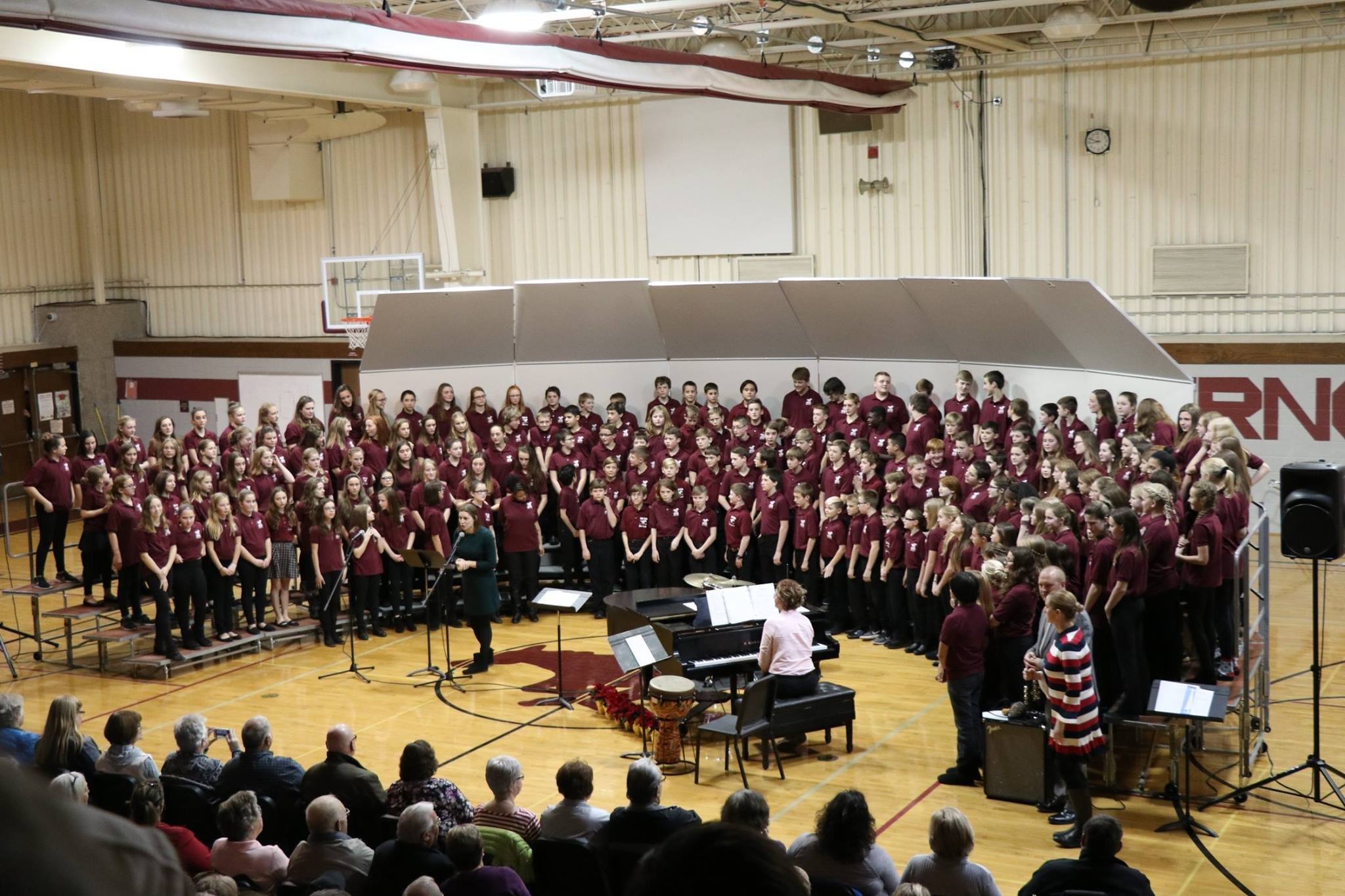 Middle School Choirs Perform