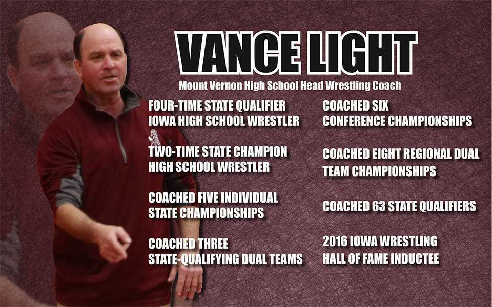 Coach Vance Light: Iowa Wrestling Hall of Fame