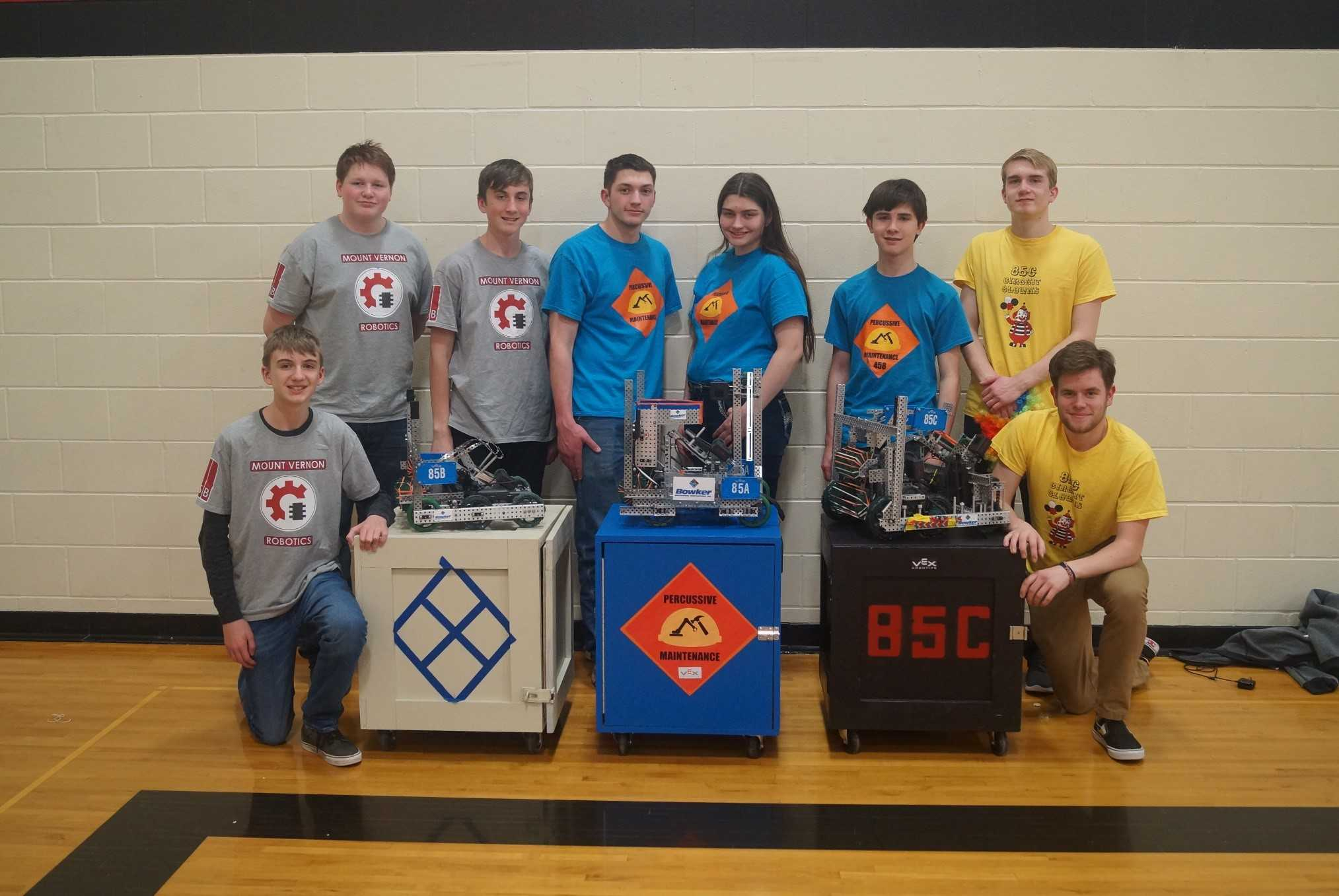 Mount Vernon High School Robotics competes at VEX Qualifying Tournament