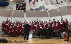 The Mixed Choir performs under the direction of Thad Wilkins March 11.