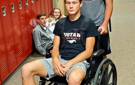 Appleton Wheels His Way Through Fake Injury Day