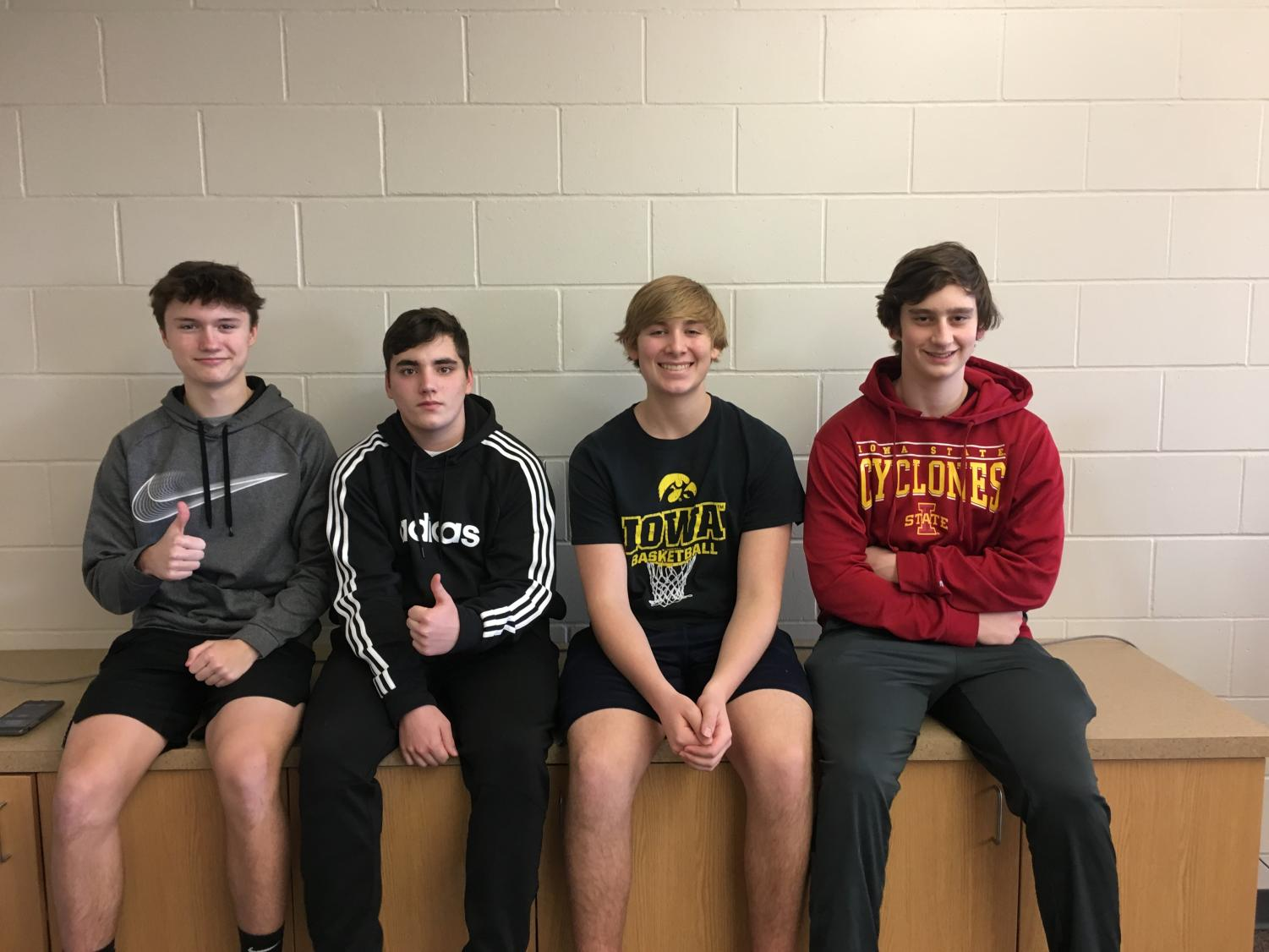 Brody Ulch, Aden Locke, Adam Deeb, and Jack Drahos