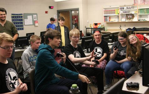 The E-sports team practices in November.