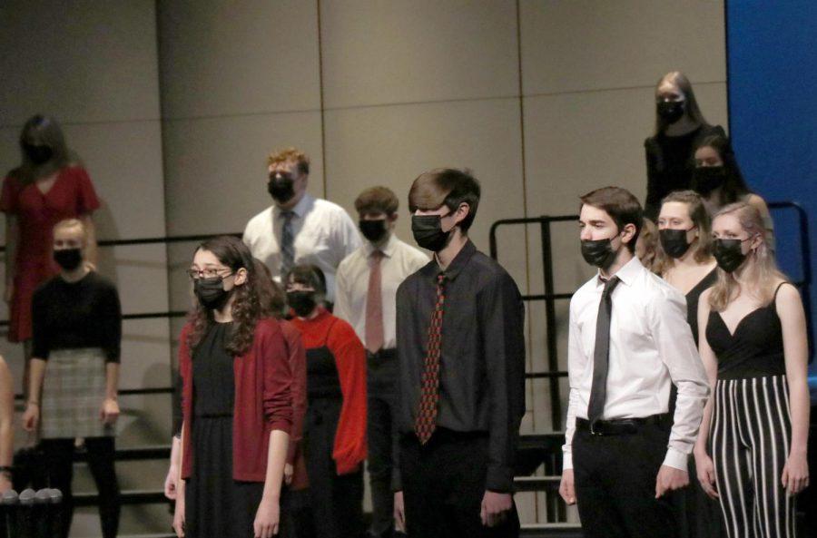 Concert choir sings Flower of Beauty by John Clements on Dec. 20.