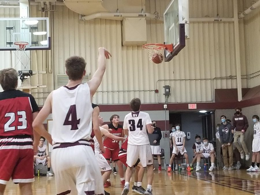 Sophomore Zach Fall drains the perfect shot.