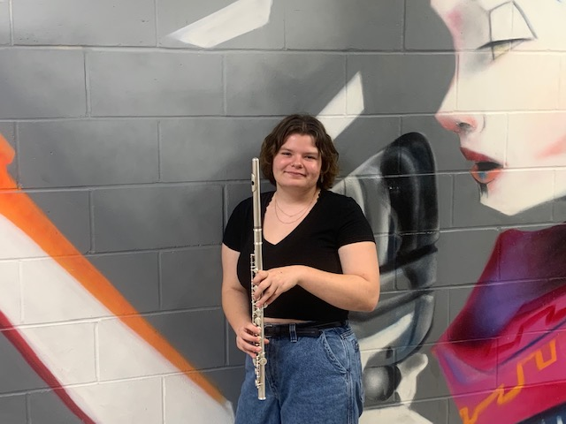 Josey Kosman with her flute.