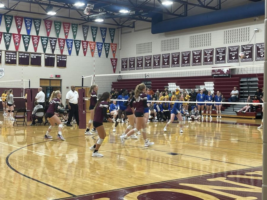 Mount Vernon plays South Tama Oct. 11 at home. The Mustangs won in two sets.