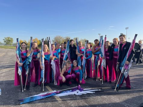 Mount Vernon High School Color Guard Team at State Oct. 9